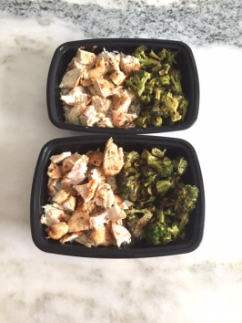 Lemon chicken and roasted broccoli